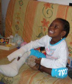 Khadidja après son opération