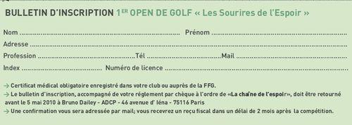 Bulletin Golf