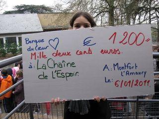 Montfort cheque 1200 euros