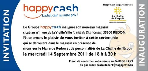 Inauguration HappyCash redon 140911