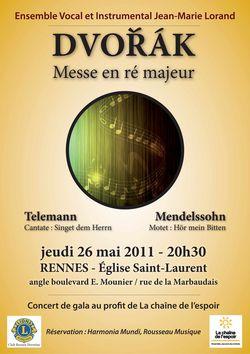 Affiche concert Rennes 26 mai 2011