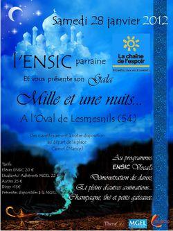 Affiche gala ENSIC