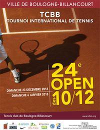 Affiche tournois tennis
