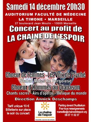Concert à Marseille - La Chaîne de l'Espoir