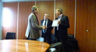 Remise de diplome engagement vers l'excellence EFQM