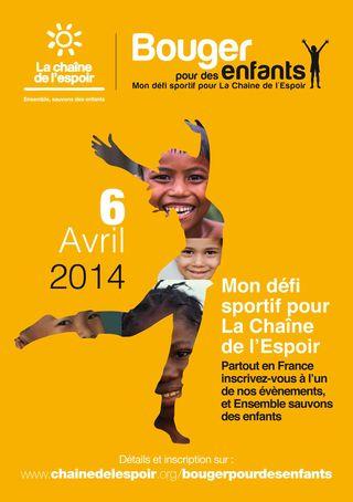 Bouger pour des enfants 2014 affiche
