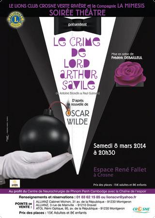 Affiche Le crime de Lord - Crosne 8mars2014