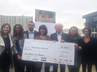 Remise cheque Marie Claire
