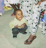 Kally lors de la mission de chirurgie cardiaque en 2004 au Tchad